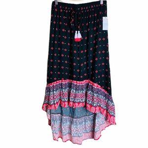❤️ Ultra Flirt High-Low Skirt - Moscow Black